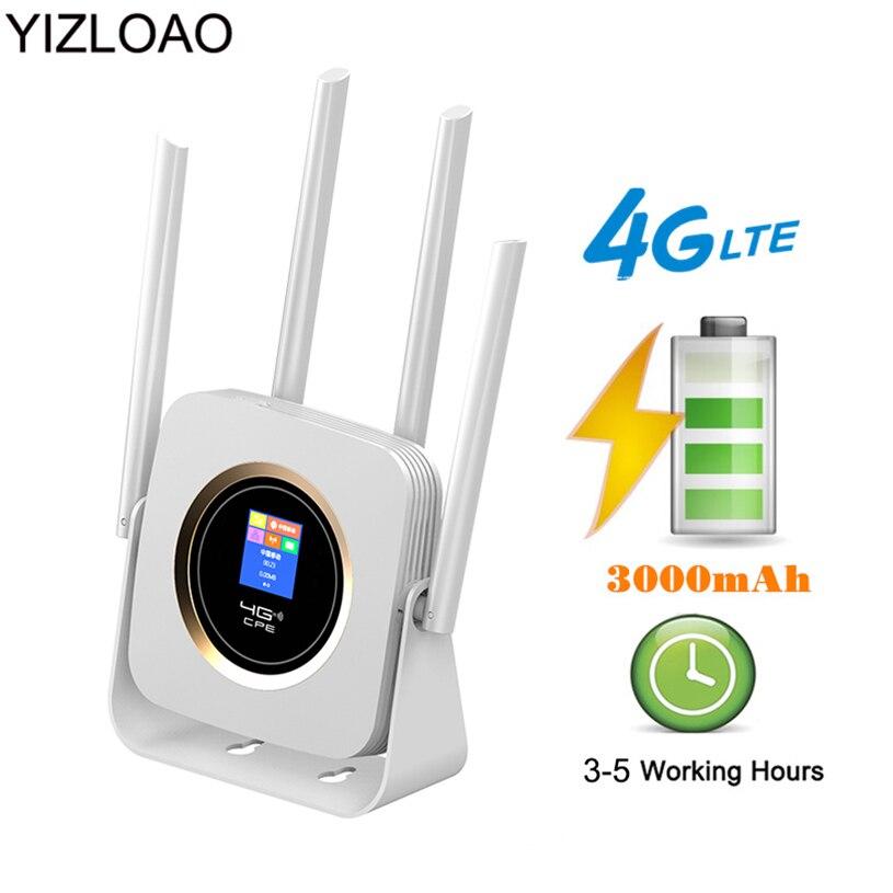 YIZLOAO 4G 3G LTE/Unlock/Mobile Router CPE 4G 3G Modem Network Access Point Router Hotspot Broadband Wifi/Signal Booster Gateway