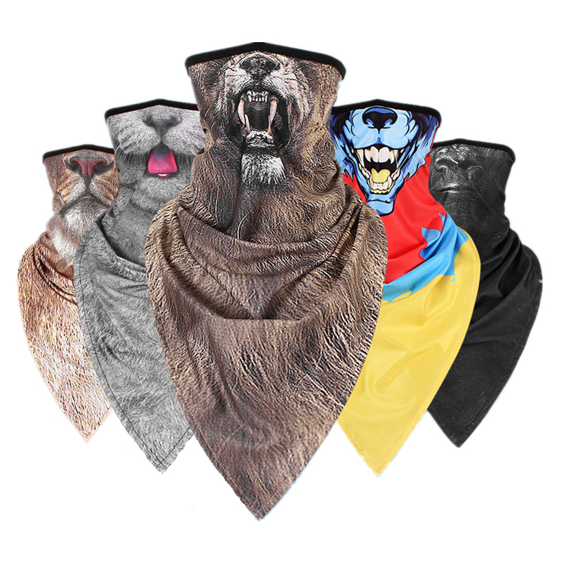 Dust Riding Mask Milk Silk UV Cycling Scarf Face Mask Scarf Quick Drying  Imitation Animals Motorcycle Multifunctional Half Mask