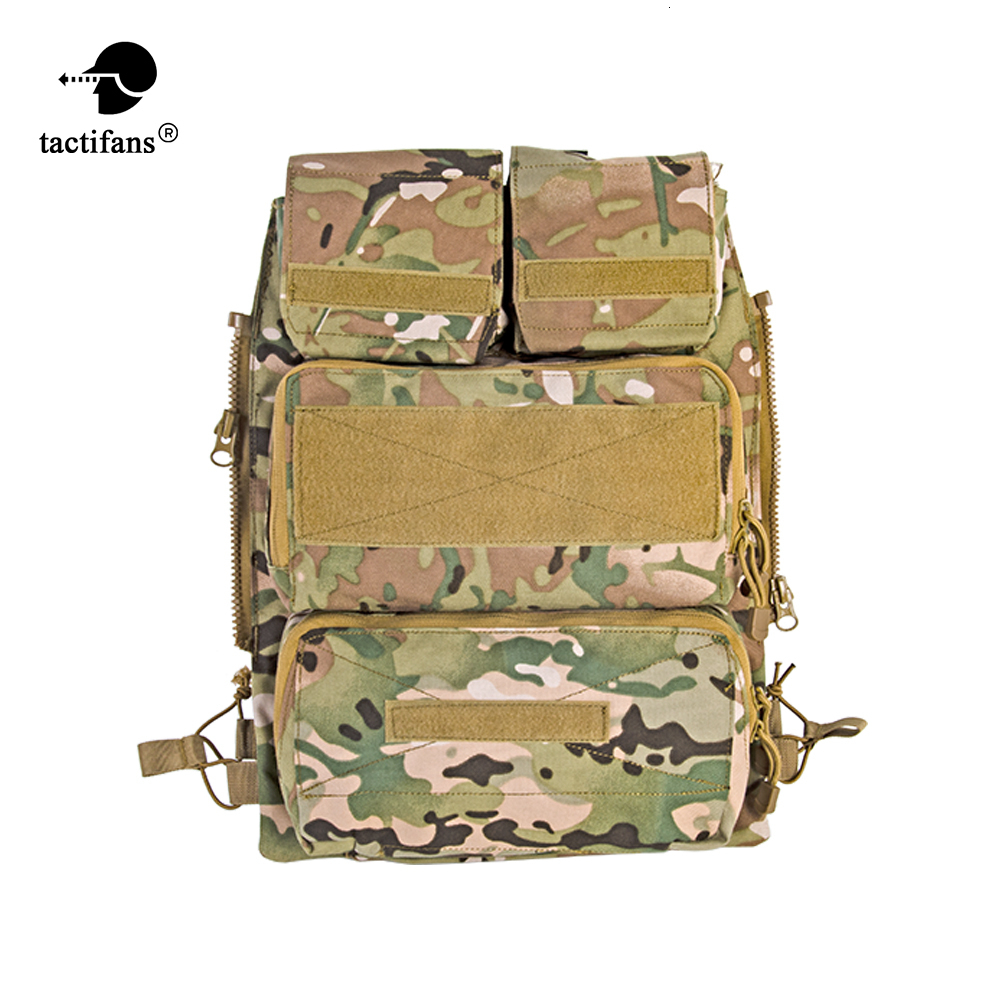Tactical Zip-on Panel Zipper-on Pouch Hunting Bag Airsoft Molle Plate Carrier For AVS JPC 2.0 CPC Emerson Vest EM7400