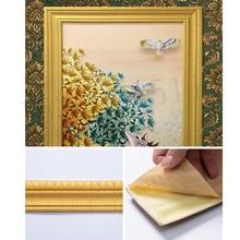 3D Foam Border Wall Stickers Self-adhesive Waterproof Top Corner Line Wall Edge Strip Wall Waist Line Sticker Tiles Wallpaper