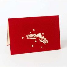 3D всплывающие поздравительные открытки подарок на день рождения карты красное сердце фестиваль открытка Винтаж приглашение свадьба любовные письма сообщения