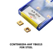 ZCC dönüm aracı CCMT060204 AHF CCMT06 bitirme için orta kesim tungsten karbür uç CCMT CCMT060204 AHF