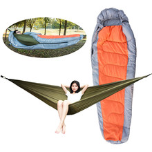 Muti-functional Detachable Hammock Sleeping Bag with Hat for Camping Travelling Hiking Sleeping Bag 210T Polyester(China)