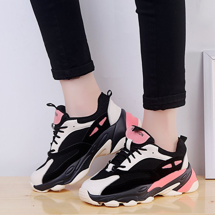 Women Casual Shoes Vulcanize Sneakers Tenis Basket Femme 2019 Spring Autumn Platform Wedge Lace-Up Breathable Zapatillas Mujer
