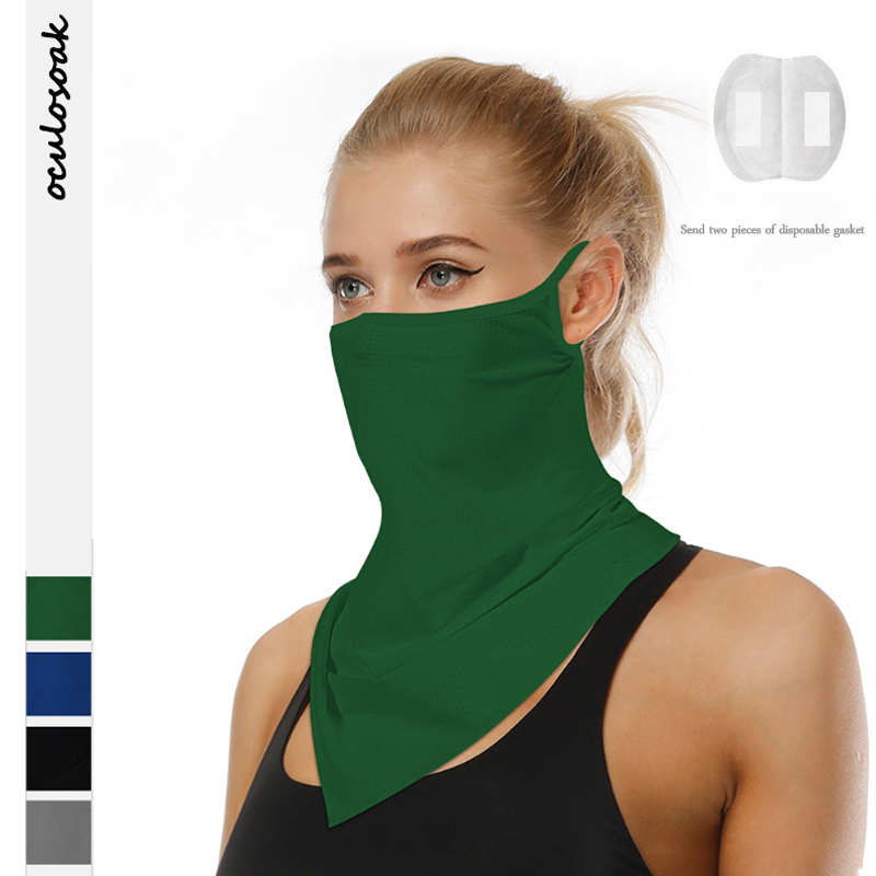 Explosive  Product Solid Color Outdoor Sports Riding Sunscreen And Insect Repellent Multifunctional Hanging Ear Scarf