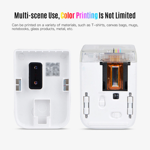 Image 3 - MBrush Mini Portable Color Printer Customized Text Smartphone Wireless Printing Inkjet Printer 1200dpi with Ink Cartridge