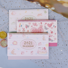 Calendar Desktop-Paper Scheduler-Table-Planner Yearly Cute 1pc Dual-Daily Size:142--259mm