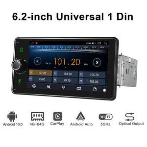 Image 5 - Android 10.0 4GB + 64GB 6.2 inç kafa ünitesi Octa çekirdek 1 din evrensel araba radyo çalar GPS navigasyon video stereo FM desteği 4G BT