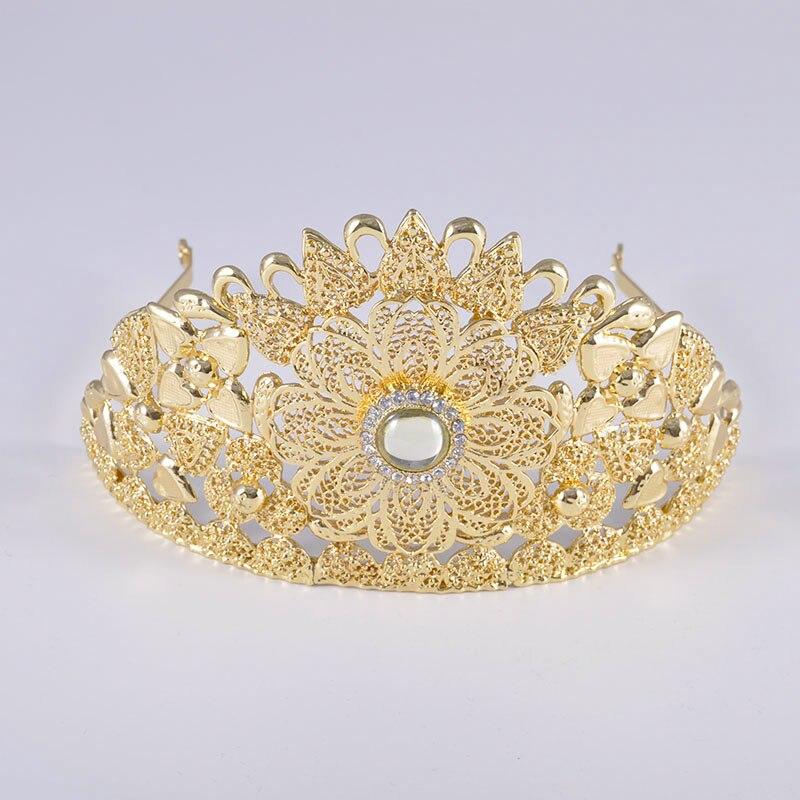 6PCS Set Luxury Wedding Jewelry Set For Women Arabic Dubai Full Set Jewelry in Gold Big 6PCS Set Luxury Wedding Jewelry Set For Women Arabic Dubai Full Set Jewelry in Gold Big Size Costume Necklace Sets