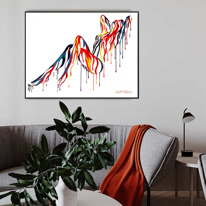 Selflessly Pop Art Sexy Nude Body Colorful Canvas Painting Wall Art Pictures For Living Room Abstract Art Posters And Prints Painting Calligraphy Aliexpress