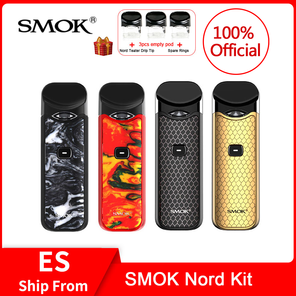 Original SMOK Nord Kit With Built-in Battery+Coils+Pod 3ml For Electronic Cigarette Vs Smok Infinix /novo Vape Pen Kit
