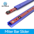 Durable T Tracks Hardware Red Woodworking T Slot Slider Practical Pusher Modification Metal Miter Tool Bar Limit