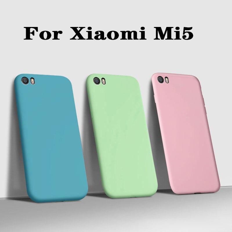 Fundas чехол для Xiaomi Mi5 Mi 5 M5 Роскошный Матовый жидкостный Мягкий силиконовый чехол для телефона Xiaomi mi5 mi 5 m5 задняя крышка защитный чехол