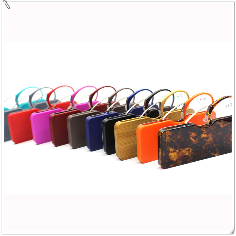 Novel Colored Portable Nose Clip Reading Glasses,Without Arms,Silicon Nose, Easy Clip