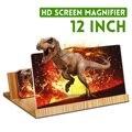 12-дюймовый 3D увеличитель для экрана телефона усилитель складной дизайн HD увеличение видео стекло часы 3d фильмы смартфон кронштейн держател...