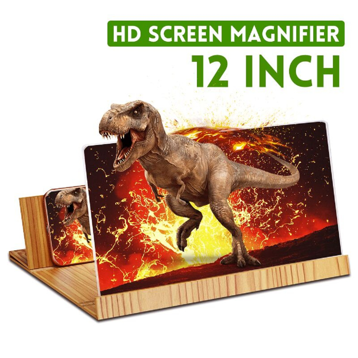 12inch 3D Phone Screen Magnifier Amplifier Folding Design HD Video Magnifying Glass Watch 3d Movies Smart Phone Bracket Holder