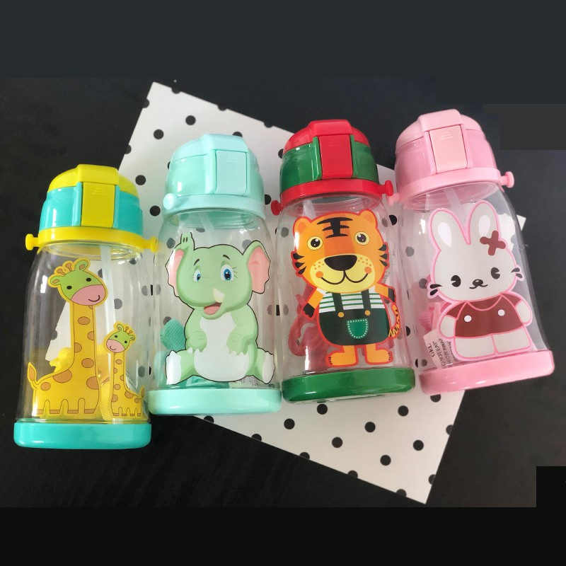 120ml-600ml Baby Cartoon Water Bottle Infant Cups With Duckbill Mouth Shape For Feeding Baby Training Cup