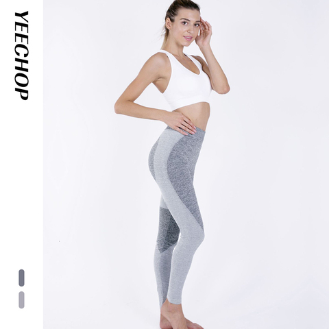 Yeechop Women Workout Seamless Leggings Push Up Fitness Leggings Female Fashion Patchwork Mujer S -XL Leggings Yoga Sport Pants Lahore