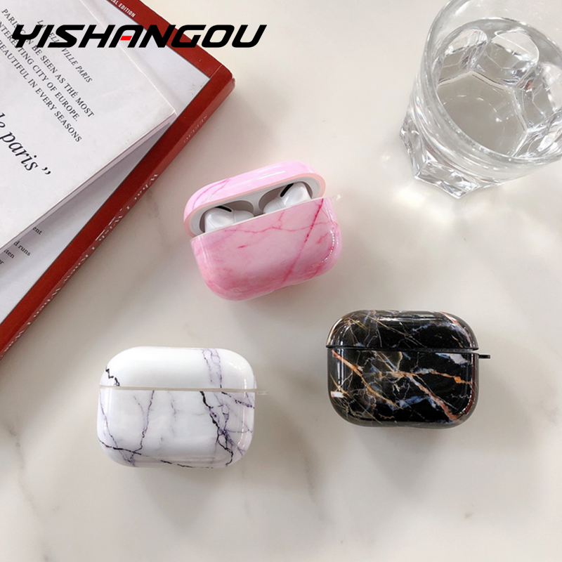 Case For Apple Airpods Pro Case Granite Marble Silicone Cover For Apple Airpods 2 1 Case Accessories Headphone Air Pods 3 Fundas