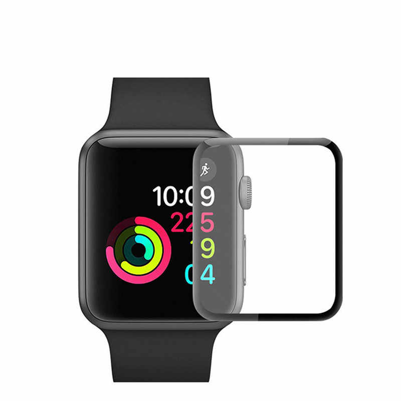 3D Curved Edge HD Watch Tempered Glass Protective Film for Apple Watch 3 2 1 38MM 42MM Screen Protector for iWatch 4 40MM 44MM