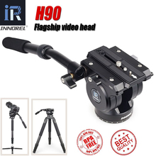 INNOREL Flagship H90 cabezas de trípode para cámara Digital, duraderas, tecnología CNC, amortiguación hidráulica de carga, 15KG, para vídeo