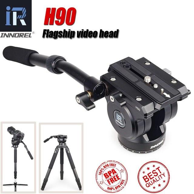 INNOREL phare H90 caméra numérique Durable monopode trépied têtes CNC technologie charge amortissement hydraulique 15KG pour la vidéo