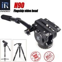 Innorel旗艦H90耐久性のあるデジタルカメラ一脚三脚ヘッドcnc技術負荷油圧ダンピング15キロビデオ