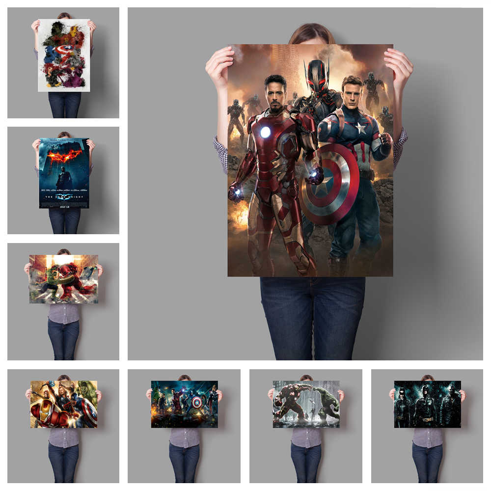Marvel Super Hero Iron Man Batman poster HD hight quality canvas painting hight quality home Decor for Children's room No Frame