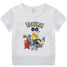 Takara Tomy Print T-shirts Pokemon Pikachu Cotton Children's Shirts Cartoon Children Boys Girls Gifts Birthday Clothings