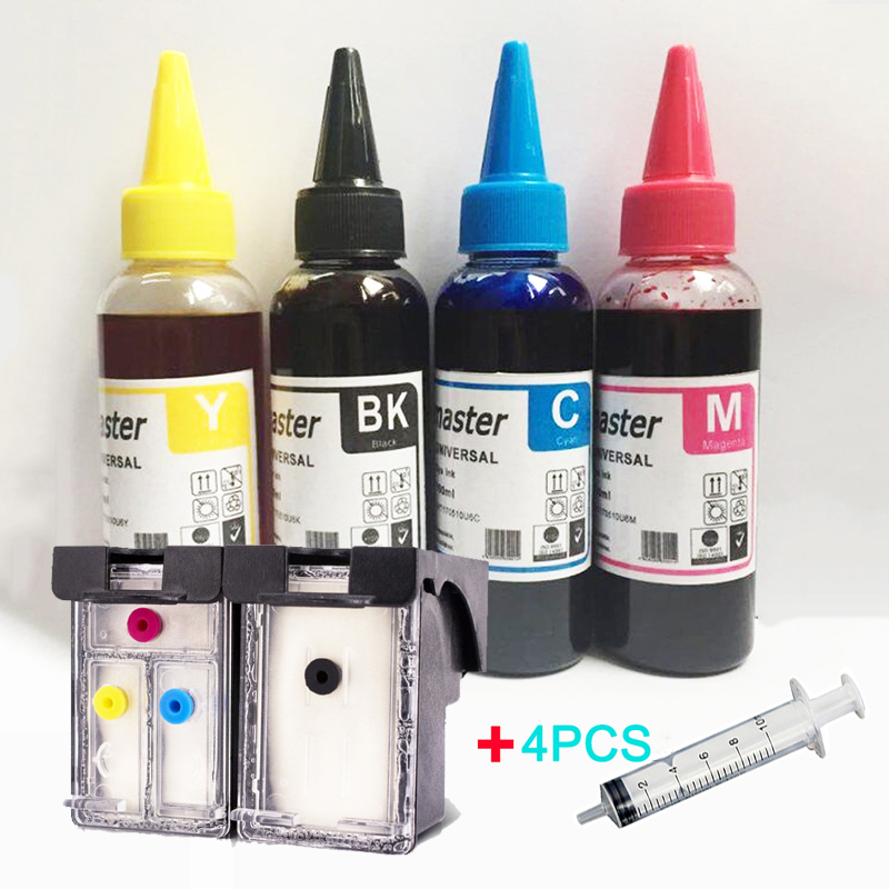 Vilaxh For <font><b>HP</b></font> 304 xl 304xl Refillable <font><b>Ink</b></font> <font><b>Cartridge</b></font>+4 bottles <font><b>ink</b></font> Deskjet <font><b>2620</b></font> 2630 2632 3720 3730 envy 5010 5030 5020 printer image