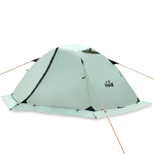 Hewolf Outdoor Professional Double-layer Tent Wild Snow Mountain Camping Equipment Multi-Person Ultra-light Snow Skirt Tent 5