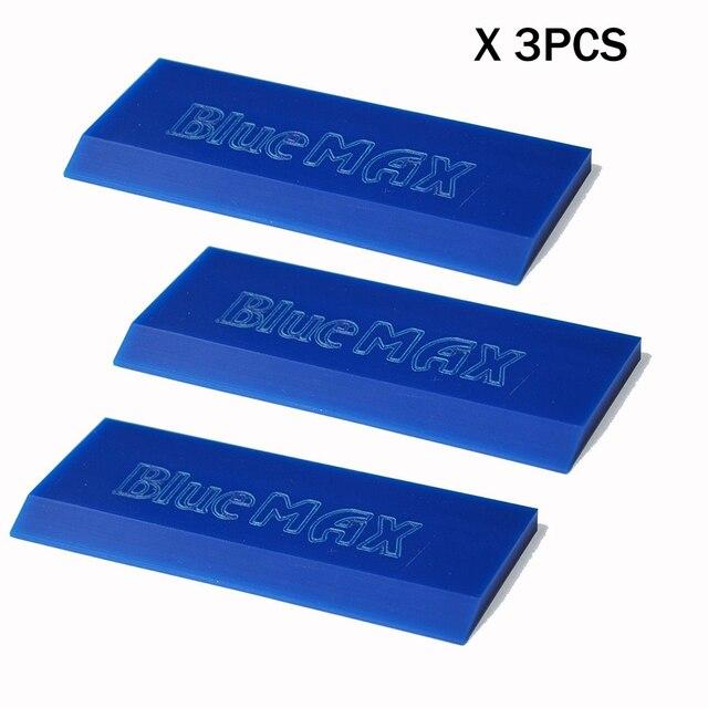 BlueMAX cuchilla de goma de repuesto para limpieza de coche, escurridor de tinte de Ventanilla de vinilo, pala de nieve, raspador de hielo, limpiaparabrisas de agua, hdis, 3 uds.