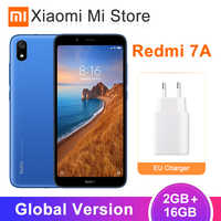 "In Stock Global Version Xiaomi Redmi 7A 7 A 2GB 16GB 4000mAh Snapdragon 439 Octa core Mobile Phone 5.49"" Full Screen 12MP Camera"