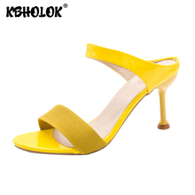 Woman Sexy Sandals 2020 New Summer High-heeled Sandals Female Sandal High Heels Sandals Women Luxury Thin Heels Ladies Shoes free shipping shoes woman 2018 summer flock brand ol high heeled woman sandals frosted with fish mouth ladies sexy sandals