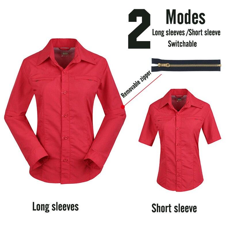 Профессиональные мужские походные футболки дышащие съемные спортивные топы рыбацкий трекинговый охотничий Мужской Быстросохнущий походная куртка - Color: Female4