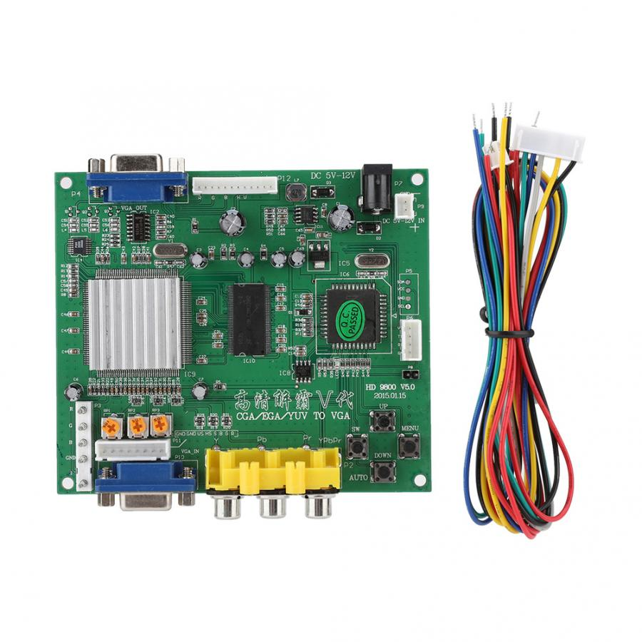 audio cable Arcade Game RGB/CGA/EGA/YUV to VGA HD Video Converter Board Supports for all VGA monitor CRT / LCD / PDP / PROJECTReplacement Parts & Accessories   -