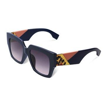 2019 double eleven Square Oversized Sunglasses Women Luxury Brand New Designer Gradient Sun Glasses Big Frame Vintage Eyewear - C2