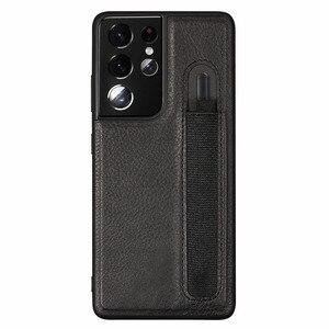 Image 2 - Stylus S עט שקע SPen חריץ מקרה לסמסונג גלקסי S21 Ultra S21U G9980 G998U G998D עור חזרה כיסוי עם כיס מחזיק