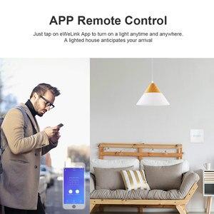 Image 2 - Sonoff T2 Uk T3 Black Wifi Smart Switch 1 2 3 Bende Slimme Schakelaar Glas Panel Wifi Touch Schakelaars werken Met Alexa Google Thuis