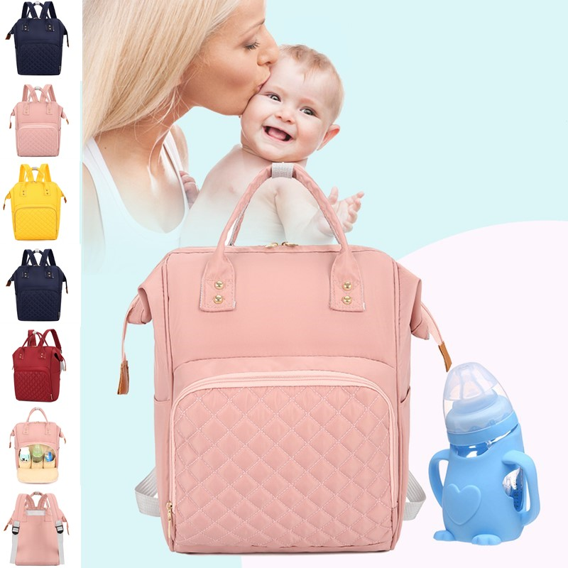 Mommy Maternity Package Nylon Mummy Zipper Backpack Wetbag Baby Diaper Nursing Nappy Large Capacity Feeding Bottle Bag