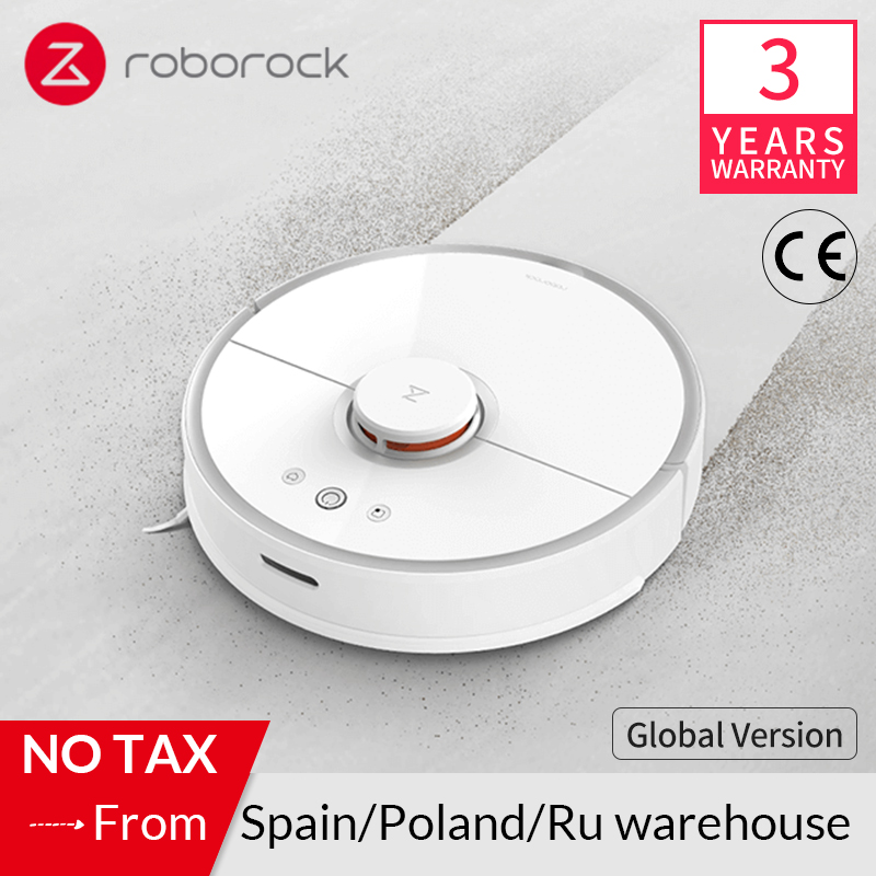 Roborock S50 S55 2 para mi Casa Inteligente Robô Aspirador de pó Tapete Limpeza de Poeira Varrendo Esfregar Molhado Robótico Planejado Limpo Xiaomi