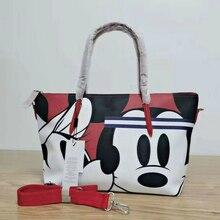 Crocrogo Crocodile & Mickey Cartoon Printing Fashion Women Bag Large Casual Tote Handbag Shopping Shopper Shoulder Bag