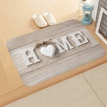 Материал буквенный принт коврики прямоугольник Non-Slip фланелевый дверной коврик Спальня Кухня входной коврик коврики