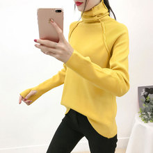 Diwish Christmas Sweater Winter Clothes Cute Rainbow Turtleneck Sweet Girl Korean Blusas Mujer De Moda 2019