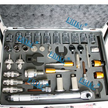 Erikc Baru 40 PCS Injector Perbaikan Pembongkaran Alat Kit Diesel Fuel Injector Membongkar Alat untuk Bosch Denso Delphi Kucing