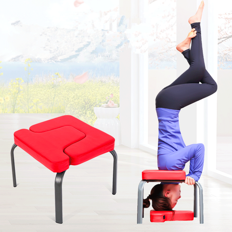 42x43x36cm Yoga Chair Headstand Stool Ultralight Yoga Chair Inversion Bench Headstander Fitness Kit  HW107
