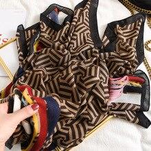 패션 그라디언트 스트라이프 라인 프린지 Viscose 목도리 스카프 여성 고품질 Printe Pashmina 스톨 Bufandas 이슬람 Hijab 180*90Cm