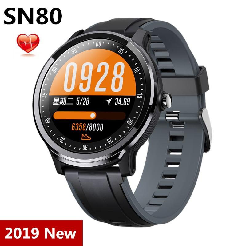 Смарт-часы SN80, 2019, модные спортивные часы, фитнес-трекер, IP68 водонепроницаемый смарт-браслет, пульсометр, Android IOS