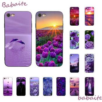 Babaite infinity on Purple Black TPU Soft Phone Cover for iPhone 8 7 6 6S Plus X XS MAX 5 5S SE XR 11 11pro promax Cover image