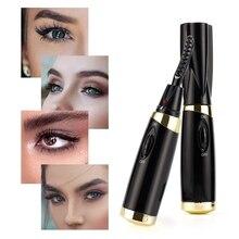 Mini Electric Heated Eyelash Curler Mascara Long Lasting Eye Lashes Curling Heated Eyelash Styling Curler Cosmetic Makeup Tools